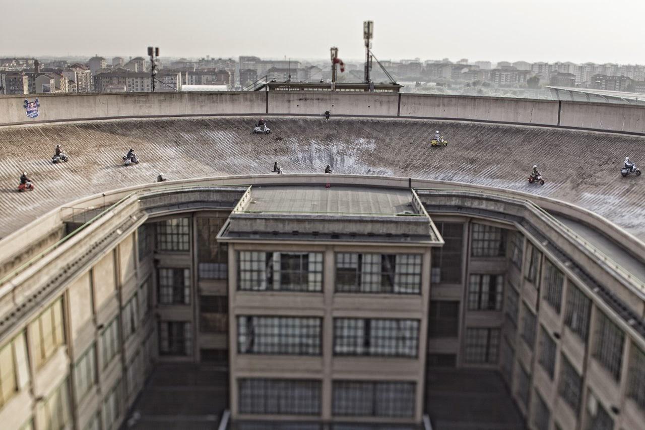 fiat lingotto factory roof torino
