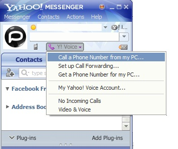 yahoo messenger free call to any number