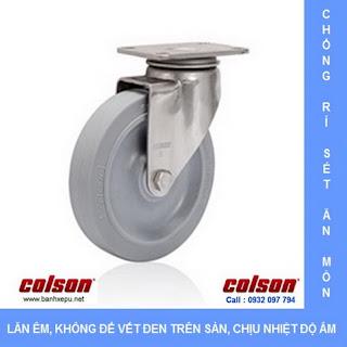 Bánh xe cao su càng bánh xe đẩy hàng inox | 2-5456-444 | www.banhxepu.net