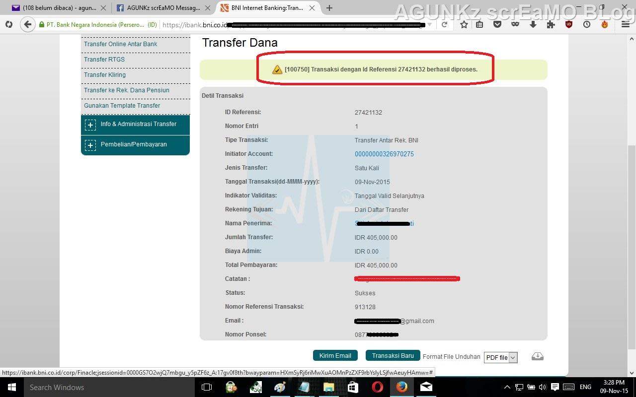 Cara Transfer Internet Banking BNI dan BNI Syariah