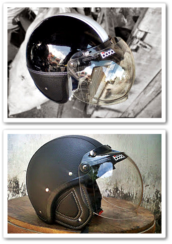 Model Helm Vespa Bogo Lapis Kulit Bergaya Retro Klasik