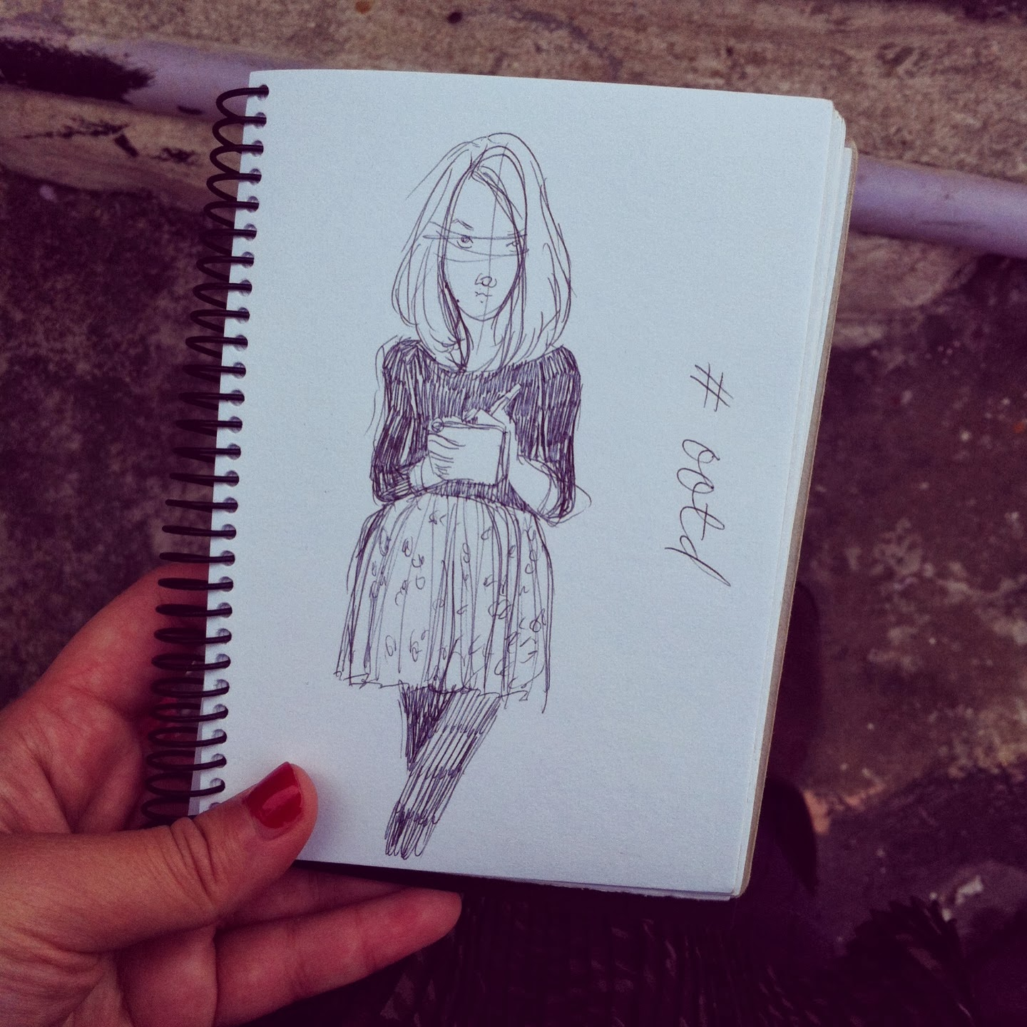 Kitty N. Wong / ootd sketchbook