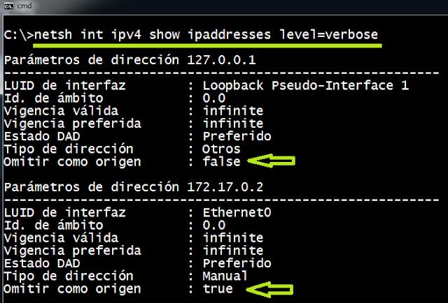 Windows: Configurar IP primaria de salida (SkipAsSource)