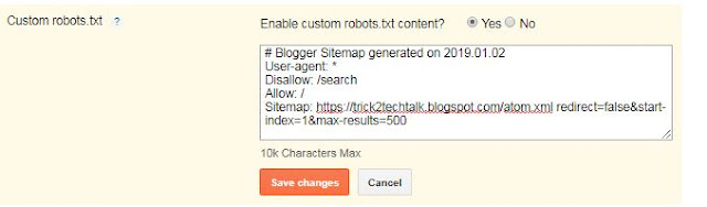 how to add custom robots.txt file on blogger