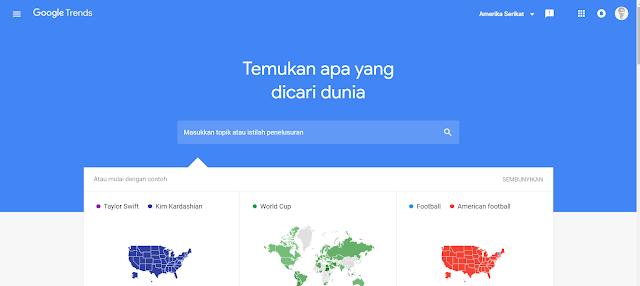 Cara riset keyword google trends