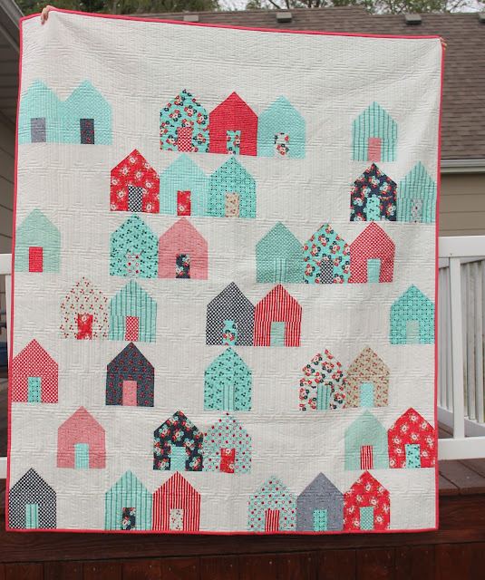 Cluck Cluck Sew's Suburb quilt pattern from Thimble Blossom's Daysail fabric line