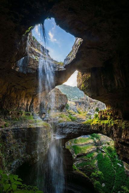 Air Terjun Baatara Gorge, Tannourine, Lebanon