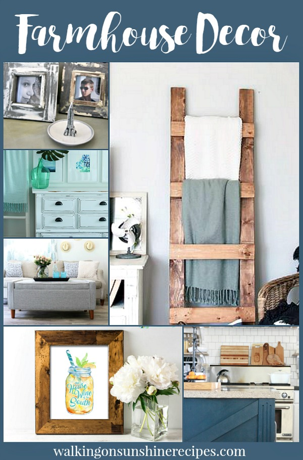 Farmhouse Decor Projects are featured this week from Walking on Sunshine.