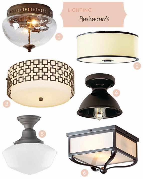 Flush Mount Light Design Ideas, Pictures, Remodel, and Decor