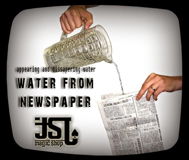TOKO SULAP JOGJA WATER NEWSPAPER MAGIC