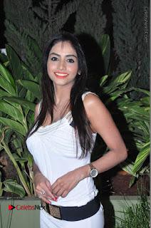 Actress Model Pooja Sri Stills in White Short Dress at F Club pre soft Launch  0028.JPG