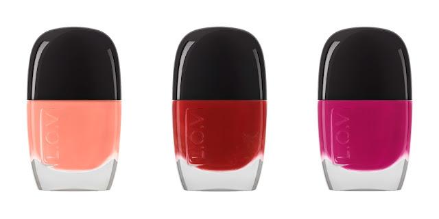 L.O.V Nail Lacquer | Peach Perfection / Luxurious lava / Rich Raspberry