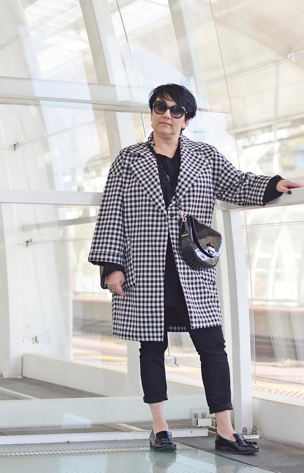 Płaszcz w kratę Zara  Checked coat Zara