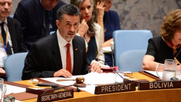 Bolivia entrega presidencia del Consejo de Seguridad de la ONU
