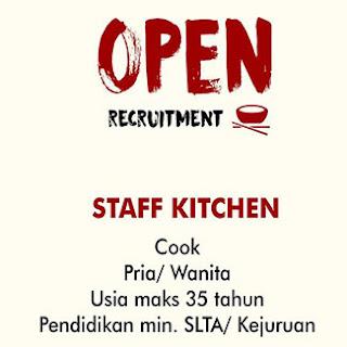 Lowongan Kerja Staff Kitchen di CV Wira Utama Berkat