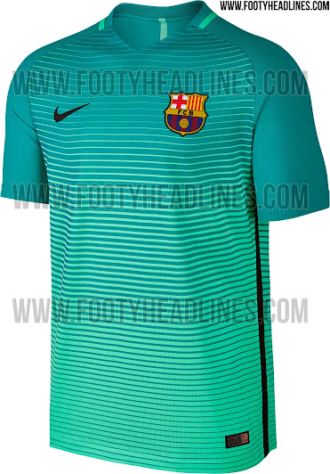 015d800e0 This is the Nike FC Barcelona 16-17 third kit (sponsorless prototpe version  - shirt will go on sale on November 1st with Qatar Airways on the front).