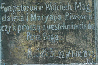 Inskrypcja na cokole Bożej Męki z 1863 r. w Kornatce koło Dobczyc