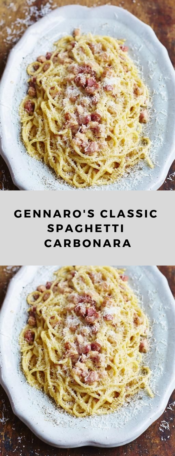 Gennaro's classic spaghetti carbonara #healthy #spaghetti #maincourse #pasta