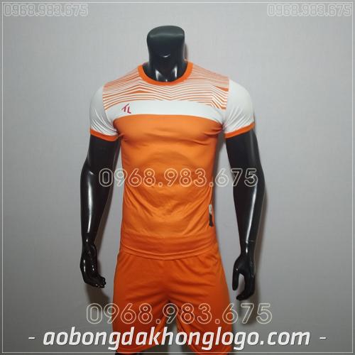 Áo bóng đá không logo TL Riyad màu cam