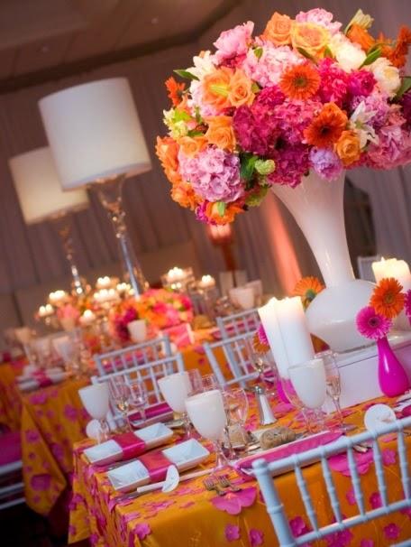 Pink and Orange Wedding Ideas