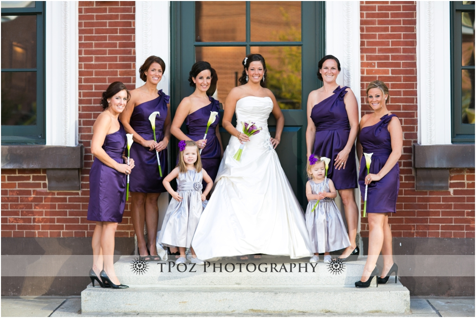 Sports Legends Museum Wedding Photos Bridesmaids