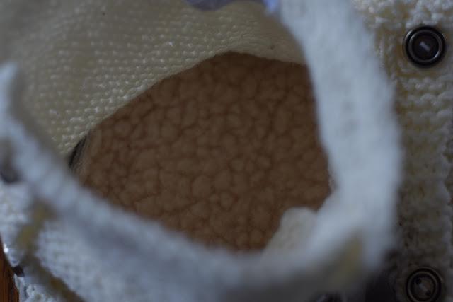 Chaussons, tricot, bergère de france, mon coin tricot, laine wooly, semelle cuir. n°175