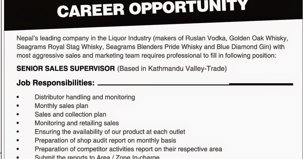 Job News Nepal: Vacancy at Liquor Industry Kathmandu 2015-03-14