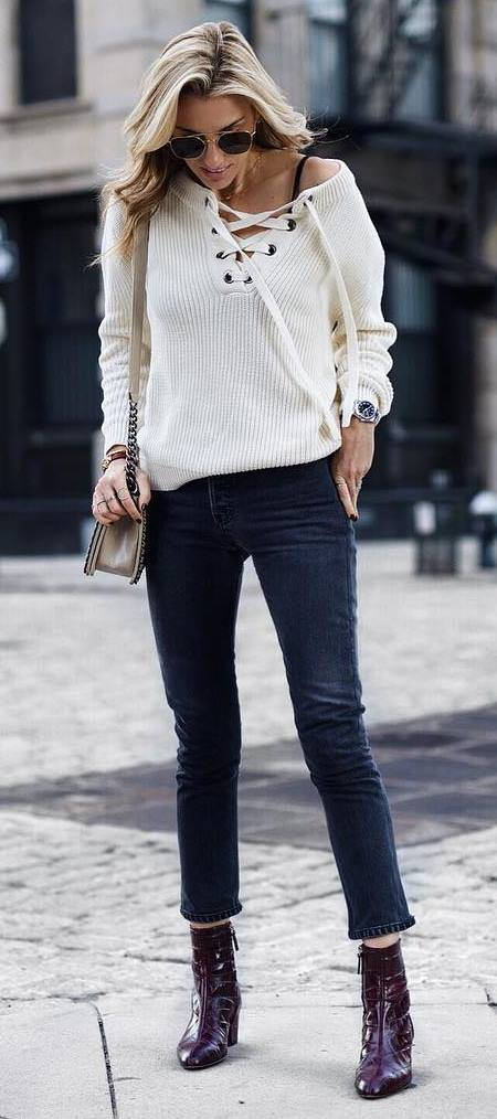 casual style adiction: top + bag + jeans