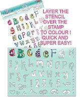 Polkadoodles Creative Doodles collection - Funky Alphabet & stencil