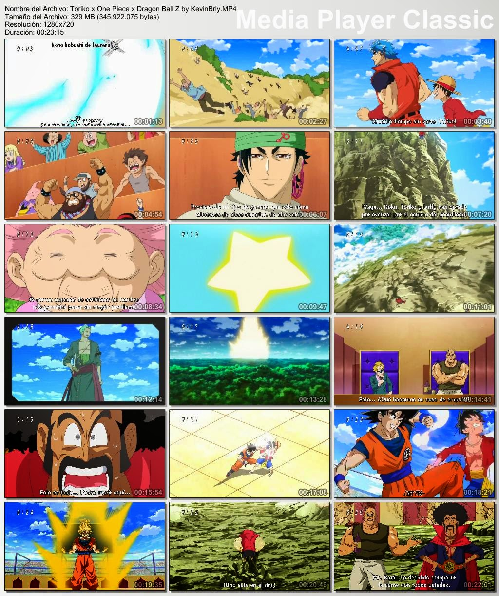 Mas Anime Brly: Toriko X One Piece X Dragon Ball Z