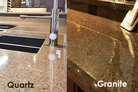 Elegant Kitchen Countertop: Granite Vs. Quartz