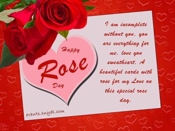 Rose Day Greeting Cards