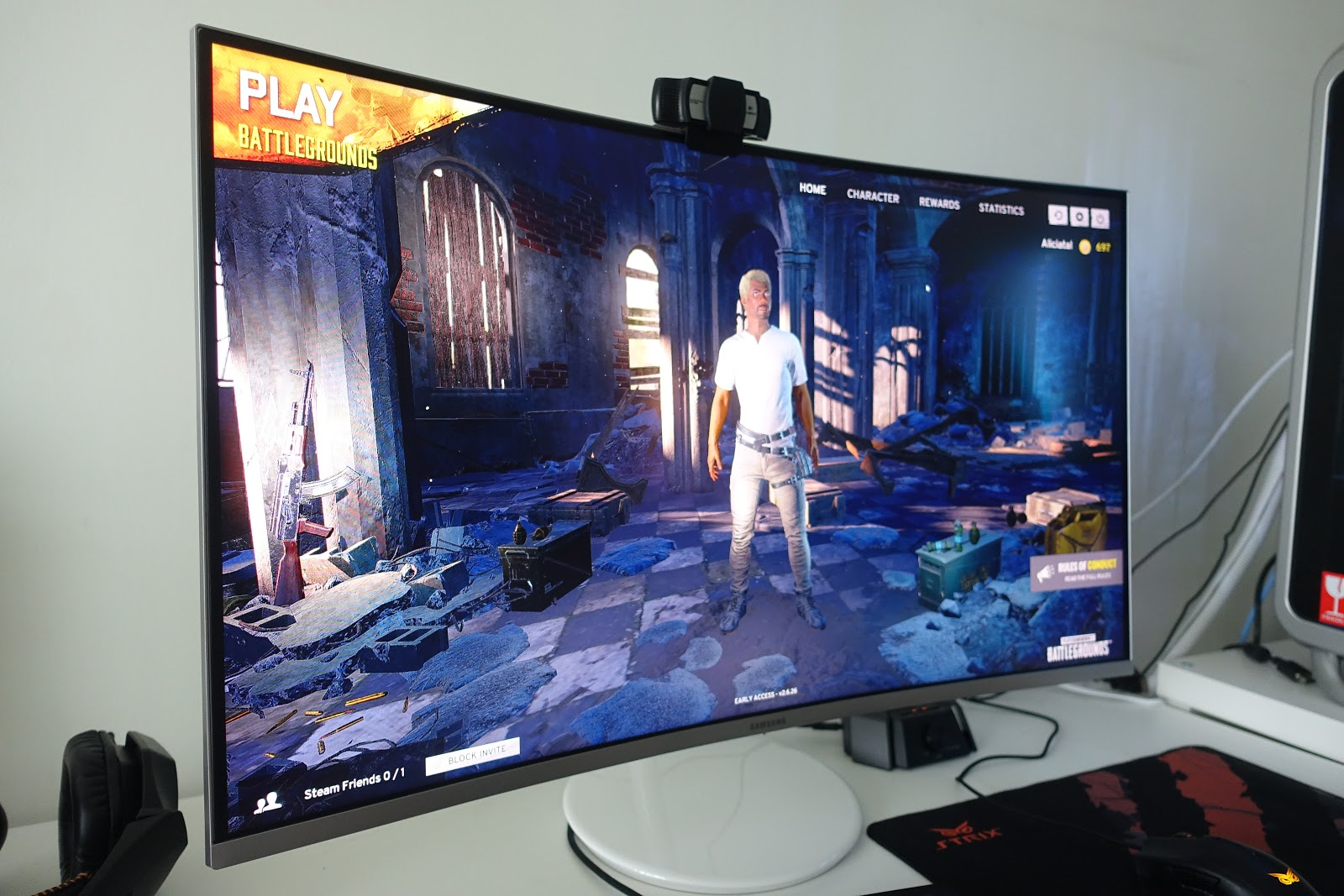 "Pubg Hdr On Pc: Alicia Tan: My New Samsung 32"" QLED Curved Gaming Monitor"
