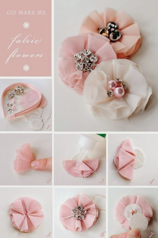NO SEW Fabric Flower PDF Tutorial With Hairclip by ...   Fabric Hair Flowers Tutorial