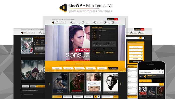 En iyi Premium WordPress Film Temaları theWP - Film Teması V2