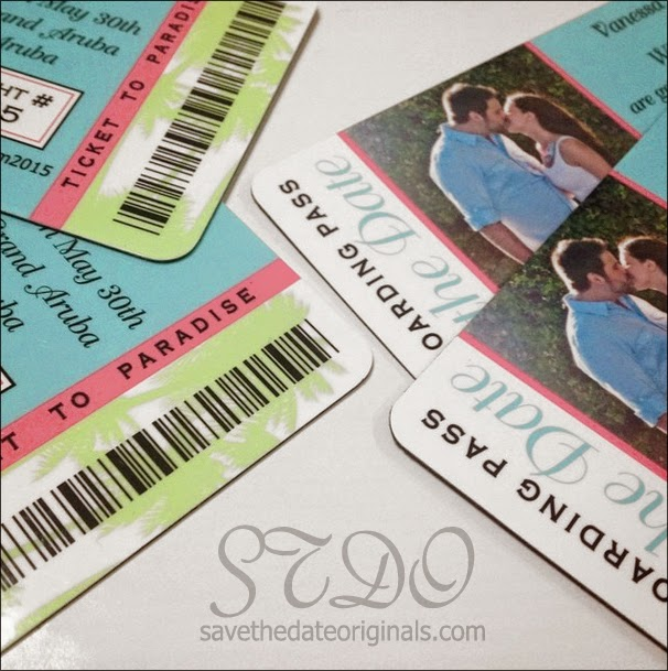 Save the Date Originals: Rounded corners for boarding pass