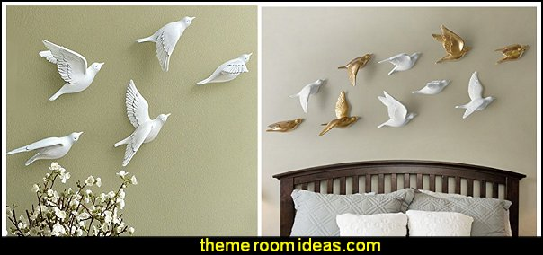 3D Wall Murals - Wall Decals - Ceramic Birds