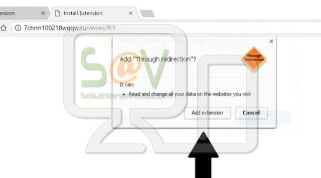 """Through Redirection"" (Extensiones forzosas de Chrome)"