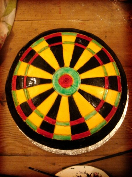How To Make A Dart Board Cake