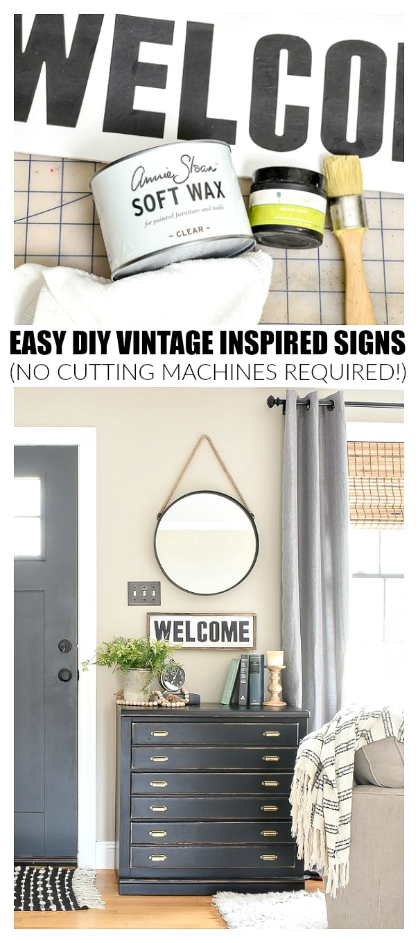 Easy DIY vintage inspired signs