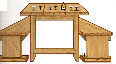Lavori creativi fai da te an online help come realizzare un tavolo rustico con panche per il - Costruire un tavolo in legno ...