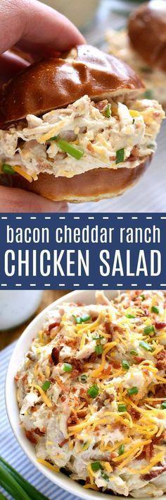 Bacon Cheddar Ranch Chicken Salad
