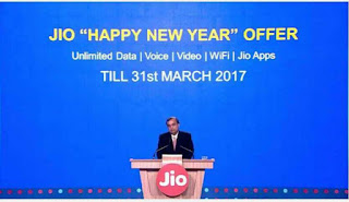 Reliance Jio's Happy New Year offer: Free services until March 31, 2017