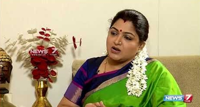 """""""There is no politics in Tamilnadu"""" – a meeting with Khushbu"""