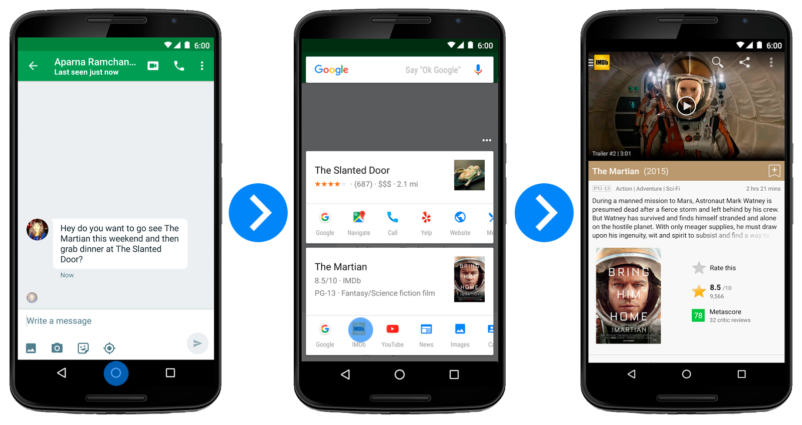 google now on tap example