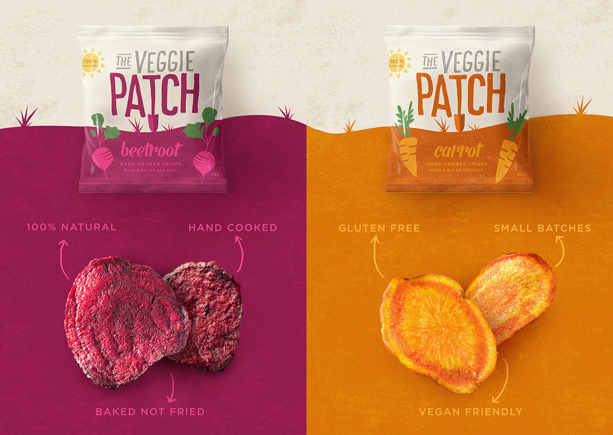 The veggie patch on packaging of the world creative for Veggie patch design