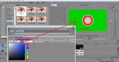 menghilangkan green screen di video