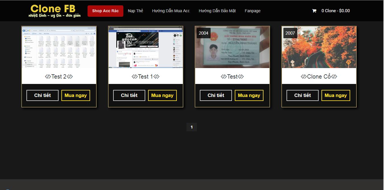 Theme Shop Bán Account Mới Cho Blogspot - Designer By StarNhanBlog