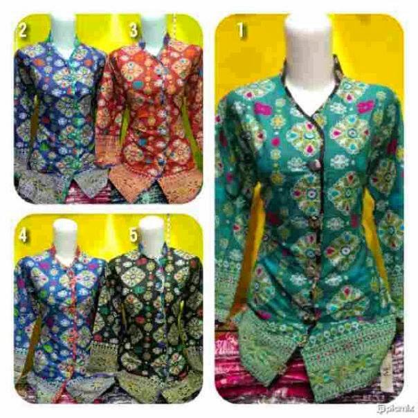 Gambar Model Batik Sarimbit Terbaru 2013: Baju Batik Sarimbit Blouse Shanghai