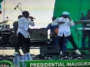 Photos: P-Square performs at inauguration